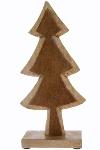 Holztannenbaum m. Fell H 35 cm