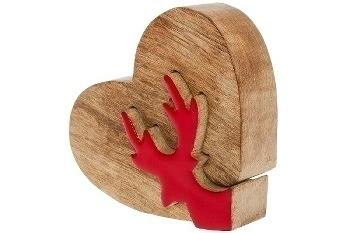 Dekopuzzle mit Herz, rot