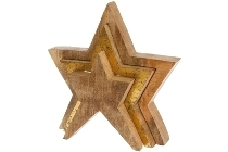 Deko Puzzle Star Natural+ Gold