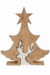 Deko Puzzle Star Baum mit Renntier, mittel