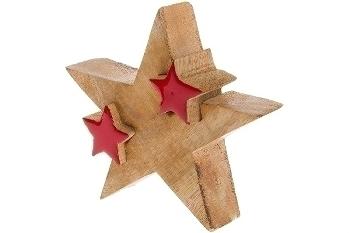 Deko Puzzle Stern groß