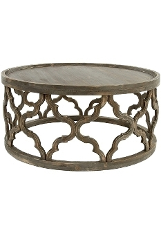 "Wooden side table ""Amazonia"" Height ca. 37"