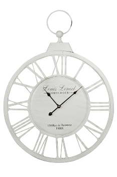 "wall clock ""Louis"", metal"