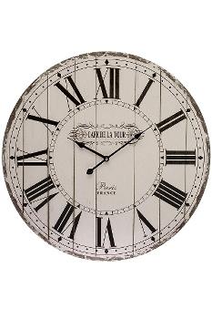 """wall clock """"Cafe de la tour"""", wooden"""