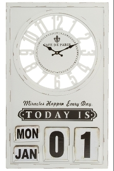 """wall clock """"Miracle"""", with date"""
