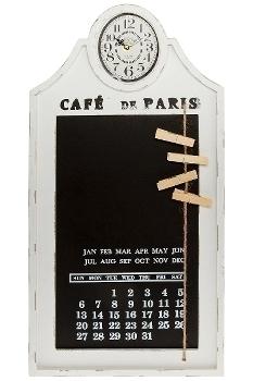 """wall clock """"Tafeluhr"""", with calendar, wooden"""