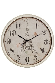 "wall clock ""Paris"", metal"