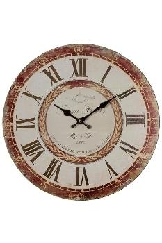 "wall clock ""Love"", wooden"