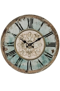 "wall clock ""Romance"", wooden"