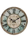"wall clock ""Romance"", wooden"