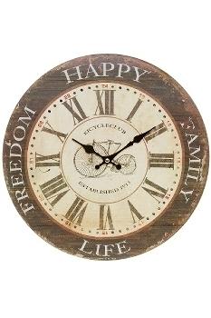 """wall clock """"Bicycle"""", wood"""