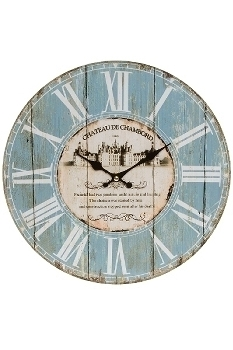 "wall clock ""Chateau"", wooden"