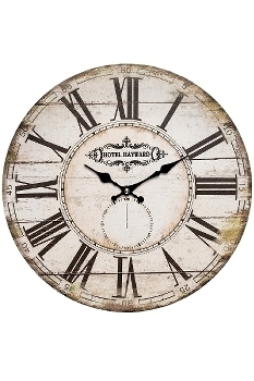 "wall clock ""Hotel"", wooden"