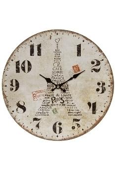 """wall clock """"Eiffelturm III"""", wooden"""
