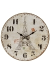"wall clock ""Eiffelturm III"", wooden"