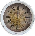 """wall clock """"Antiques"""", metal"""