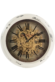 "wall clock ""Antiques"", metal"