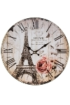 "wall clock ""Eiffelturm I"", wooden"