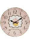 "wall clock ""Cup Cake pink"", wooden"
