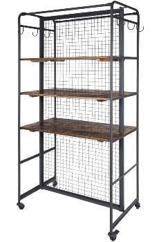 Regal mit 6 Fächern, aus Metall und Holz, ca.