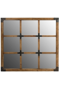 """mirror """"Colonial"""", with wooden frame"""