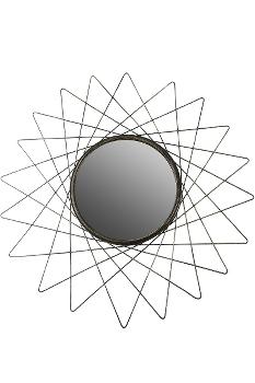 """Spiegel """"Equlips"""" goldf.  Durchm. 60 cm"""