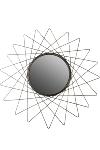 Spiegel goldf.,Durchm.60 cm, Material:Metall
