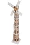 LED Windmühle, 110cm H., aus Tannenholz,
