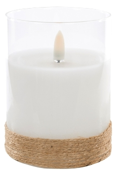 LED Glass candle with new flamless. PVC Box,