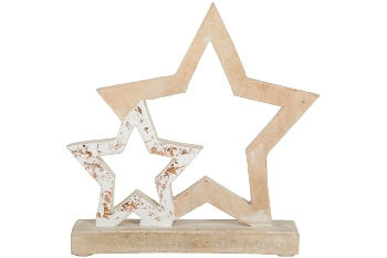 Deco Open star with star, 2 cm