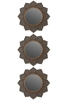"Set of 3 mirrors ""PAMBU"" Ø 25 cm"