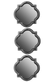 "Set of 3 mirrors ""PAMBA"" Ø 25 cm"