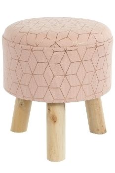 "Hocker ""Nahli"" rose/gold H33 durchm. 32"