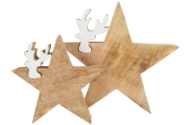 Deco star w/ Rendeer, set of 2 asstd.