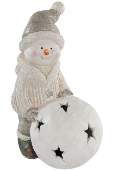 snowman with LED ball, for 2xAA batteries