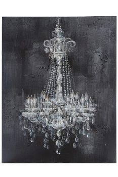 "oil painting ""Candelabra"" 80/60, white/grey"