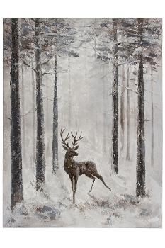 "Ölbild ""Hirsch-Tim"", 50 x 60 cm"