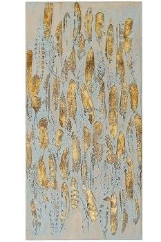 """Ölbild """"Madie"""", goldfarbend 100 x 50 cm"""