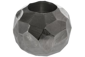 """Teelichthalter """"Bowlo"""" gehämmert Silber"""