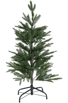 100CM FULL PE TREE WITH 159 TIPS PLASTIC STAND BOTTOM WIDTH:73CM