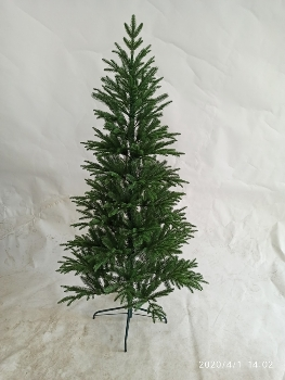 180CM FULL PE TREE WITH 565 TIPS METAL STAND BOTTOM WIDTH:111CM