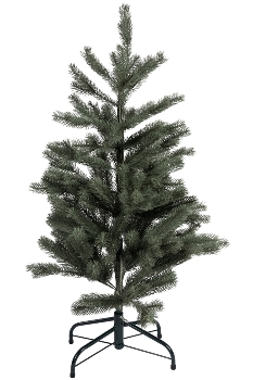 100CM WRAPED FULL PE TREE WITH 227 TIPS METAL STAND BOTTOM WIDTH:58CM