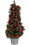 Christmas PE tree with 40 mm ball ornament 59 pcs x 40 mm ball ornament in