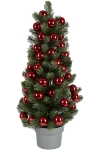 Christmas PE tree with 40 mm ball ornament 75 pcs x 40 mm ball ornament in