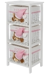 "chest of drawers ""Sleepy Bear"", white/pink, w"