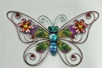 Butterfly with glass decor