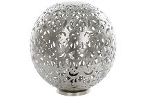 "Kugellampe ""Kareem"" im gehämmeten Herz-Ornament-"