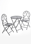 set of 3 pcs: 2 chairs + 1 table,