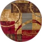"""Carpet """"Soulmate"""" Round Multi"""
