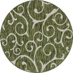 """Carpet """"Outdoor Beauties """" Round Green"""